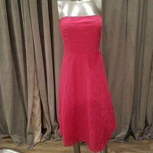 J. Crew  pink strapless dress 10 NWT